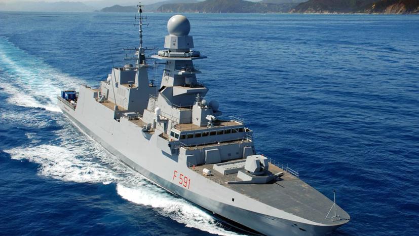 Российский флот приступил к слежению за фрегатом Италии в Чёрном море