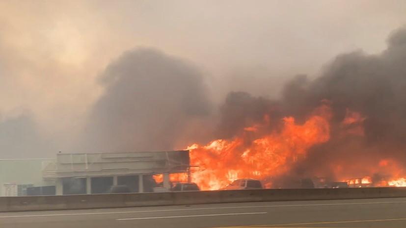 В Канаде лесные пожары уничтожили деревню