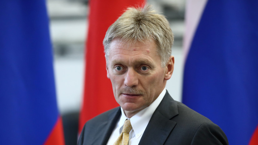 Песков: у России нет желания размещать флаг на Украине