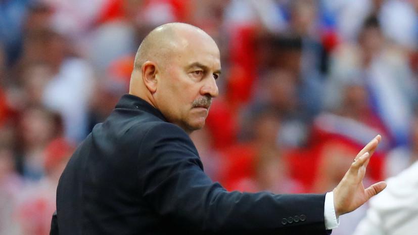 Черчесов рассказал, за что ругал игроков сборной России после поражения от Бельгии