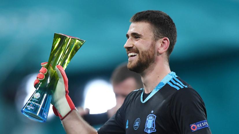 Симон признан лучшим игроком матча Евро-2020 Швейцария — Испания