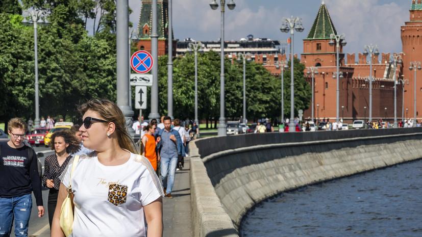 В Москве 3 июля ожидается до +25 °С