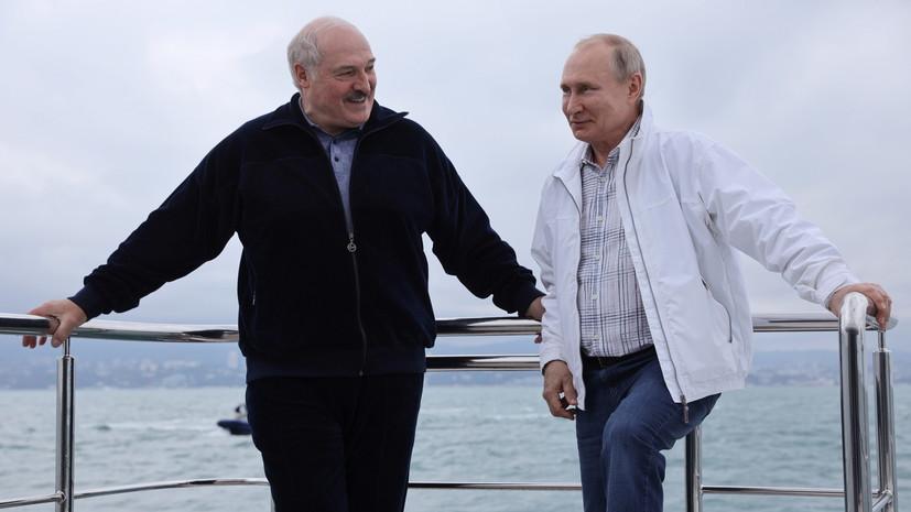 Путин направил Лукашенко телеграмму по случаю Дня независимости Белоруссии