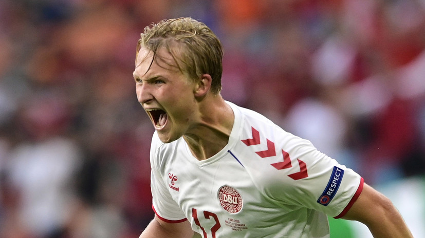 Дольберг удвоил преимущество Дании в матче 1/4 финала Евро-2020 с Чехией