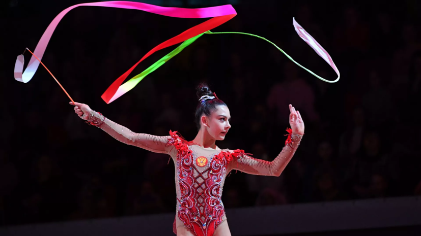 Крамаренко выиграла золото в упражнении с лентой на этапе Кубка вызова в Белоруссии