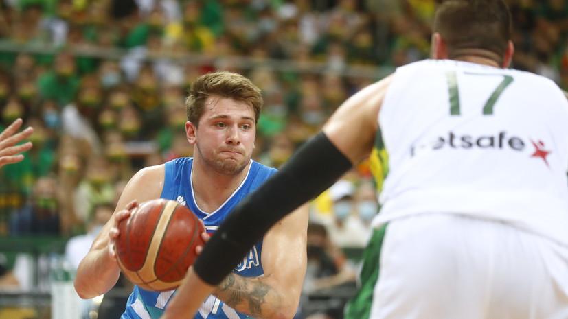 Трипл-дабл Дончича помог сборной Словении по баскетболупробиться на Олимпиаду