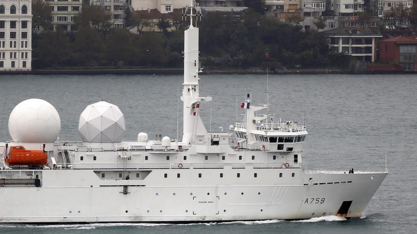 Силы ВВО отслеживают действия корабля-разведчика Франции в Японском море