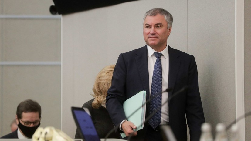 Володин заявил об отсутствии у него президентских амбиций