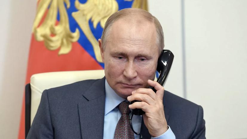 Путин в телефонном разговоре поздравил Назарбаева с днём рождения