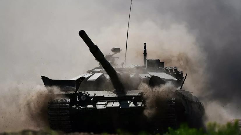 Танкисты ЦВО совершили марш на танках Т-72Б3М в Кемеровской области