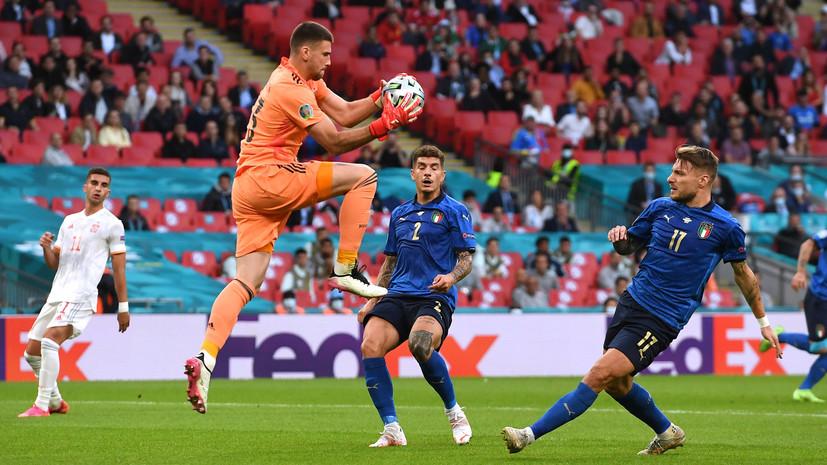 Италия и Испания не забили друг другу в первом тайме полуфинала Евро-2020