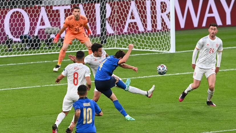 Кьеза открыл счёт в матче Италия — Испания