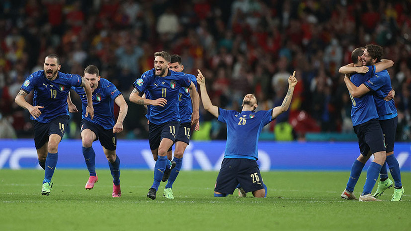 «Вместе дотерпели до финала»: что говорили после победы Италии над Испанией в 1/2 Евро-2020
