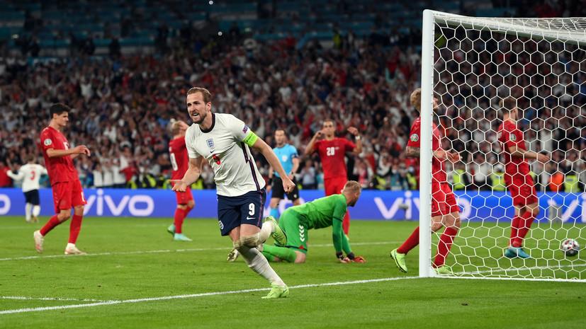 Кейн стал вторым игроком сборной Англии, забившим гол в полуфинале Евро