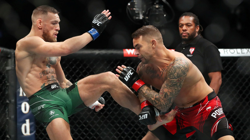 «Карма — это зеркало»: Макгрегор сломал ногу и проиграл Порье техническим нокаутом на турнире UFC 264