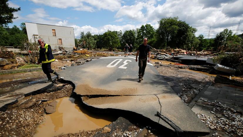 Меркель рассказала о масштабе трагедии с наводнением в ФРГ