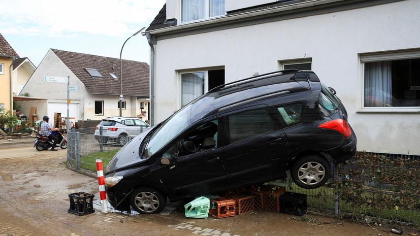 Число жертв наводнений на западе Германии возросло до 106