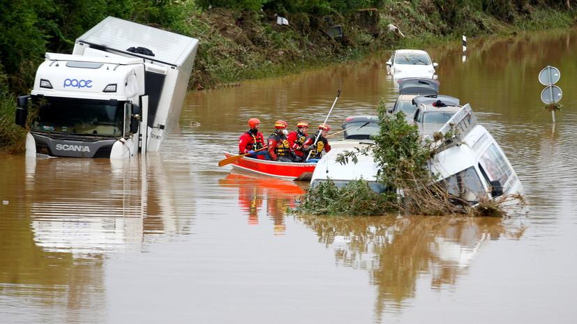 Число жертв наводнений на западе Германии возросло до 133