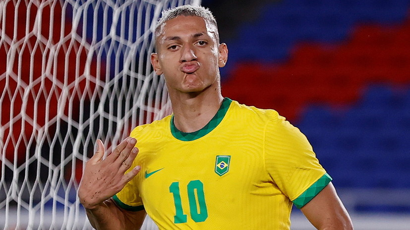 Хет-трик Ришарлисона помог Бразилии победить Германию на футбольном турнире ОИ в Токио