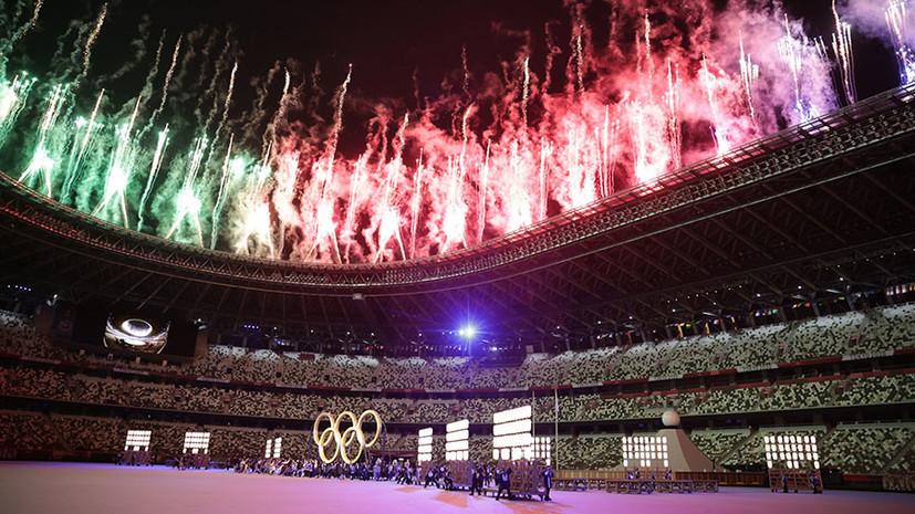 При пустых трибунах: в Токио прошла церемония открытия XXXII летних Олимпийских игр