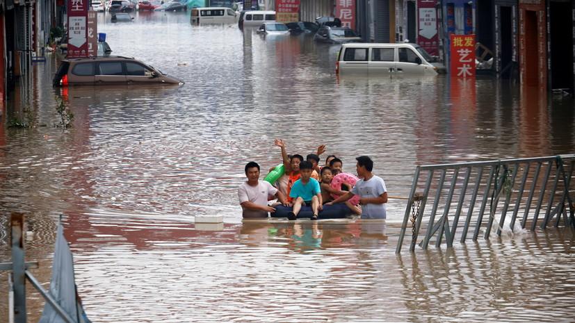 Число жертв наводнений в китайской провинции Хэнань достигло 56