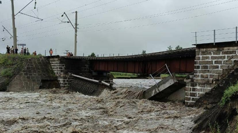 В РЖД рассказали о ходе восстановления моста в Забайкалье