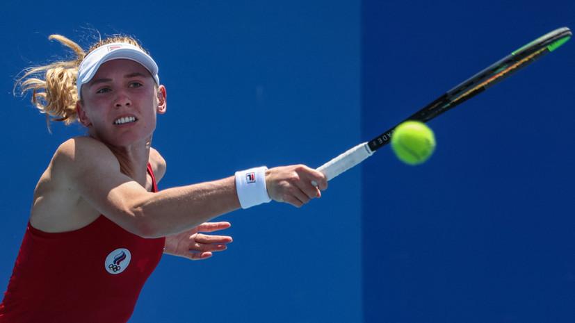 Александрова вышла во второй круг теннисного турнира на ОИ в Токио