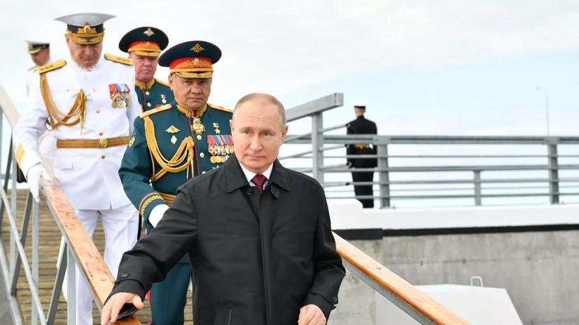 Путин принял участие в спуске на воду траулера «Механик Сизов»