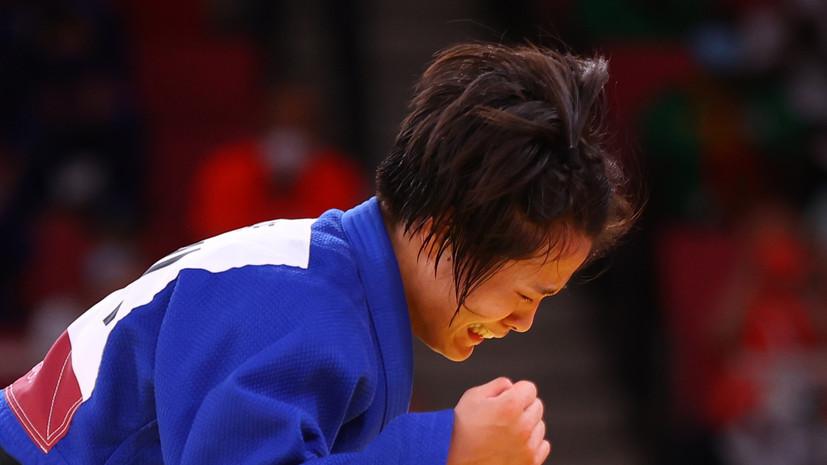 Абэ стала олимпийской чемпионкой по дзюдо в весе до 52 кг