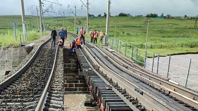 Грузовые поезда в тестовом режиме пересекли восстановленный мост в Забайкалье