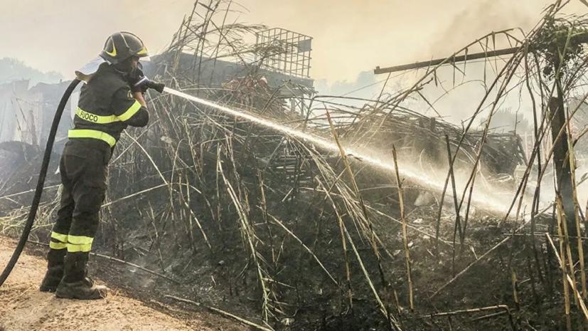 Около 400 человек эвакуировали из-за пожаров на Сардинии