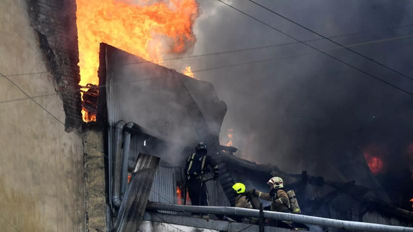 По факту пожара в центре Петербурга организована проверка