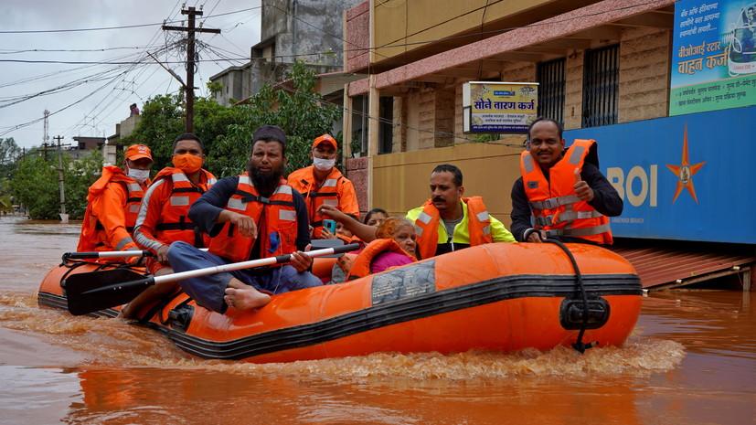 В Индии число жертв последствий непогоды увеличилось до 164