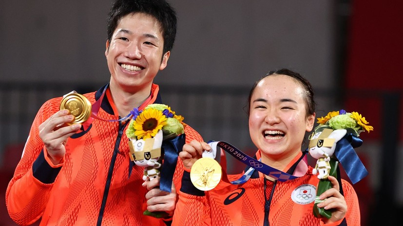 Японцы победили в миксте по настольному теннису на Олимпиаде