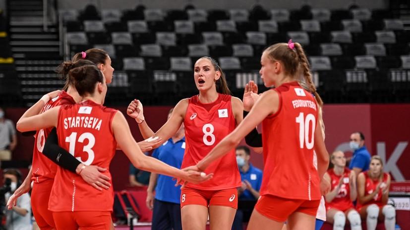 Россия победила Аргентину на женском волейбольном турнире Олимпиады