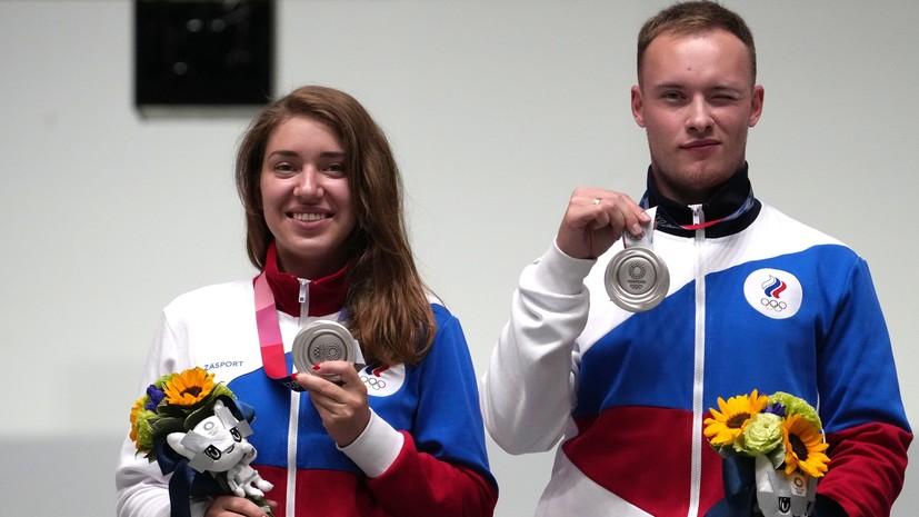 Командный успех: российские стрелки выиграли две медали в миксте на Играх в Токио