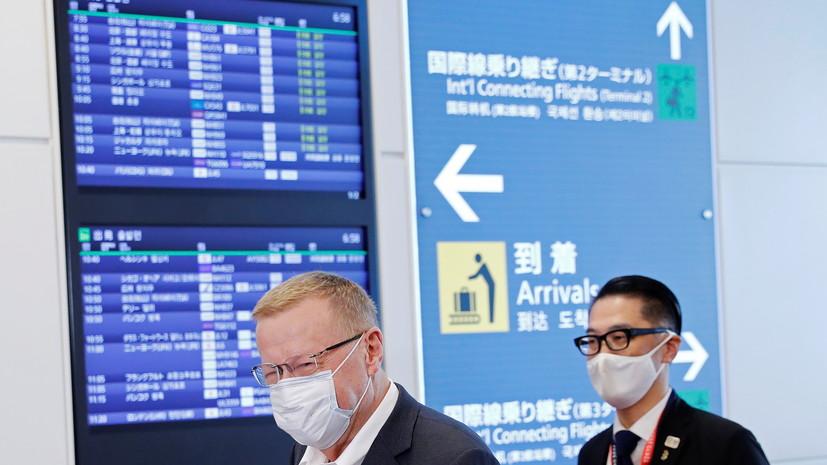 В Японии отменили более 20 авиарейсов из-за тайфуна