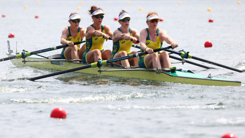 Австралийки завоевали золото ОИ в академической гребле в четвёрках