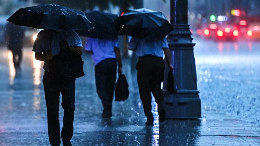 Синоптик предупредила о ливне с грозами в Москве
