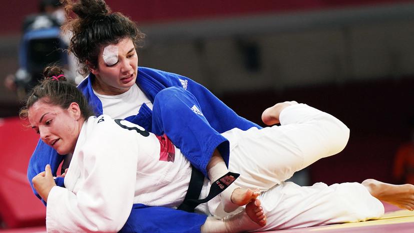 С разбитым глазом и после удушающего приёма: как дзюдоистка Таймазова героически выиграла бронзу Олимпиады в Токио