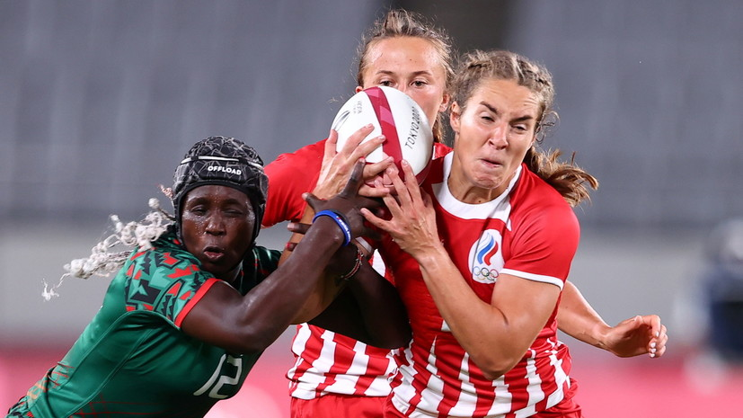 Россия победила Кению на женском олимпийском турнире по регби-7