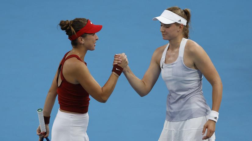 Бенчич и Вондроушова сыграют в финале теннисного турнира Олимпиады