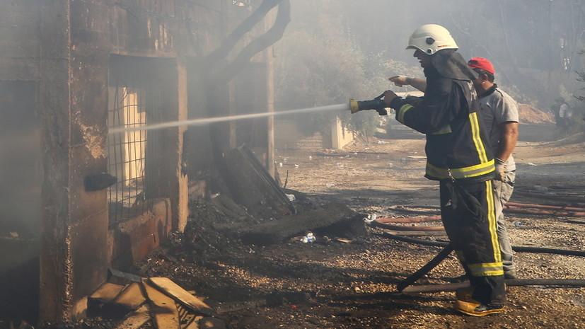 В турецком Мармарисе из-за лесного пожара эвакуируют отели