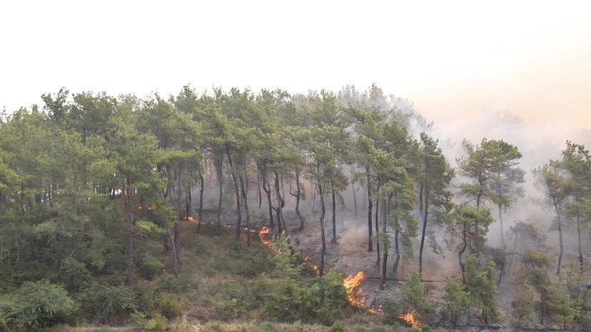 Туристов из России просят быть готовыми к возможной эвакуации из-за пожаров в Турции