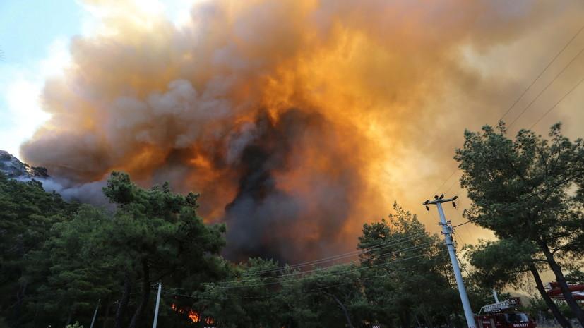 Около 100 россиян в Бодруме разместят в других отелях из-за пожаров