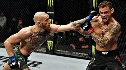 Бойцы UFC Конор Макгрегор и Дастин Порье