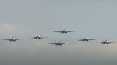 Демонстрационные полёты авиатехники на МАКС-2021