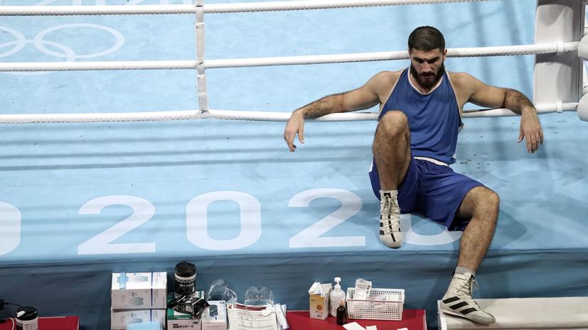 Французский боксёр Алиев в знак протеста час не покидал ринг наОИ в Токио