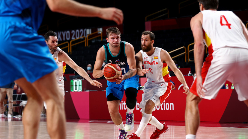 Словения победила Испанию на баскетбольном турнире ОИ