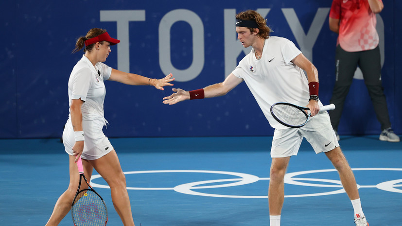 Павлюченкова и Рублёв стали олимпийскими чемпионами по теннису в миксте
